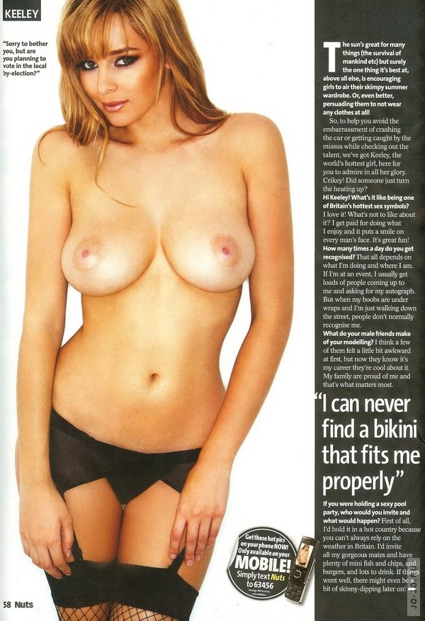 keeley hazell и ее домашнее порно