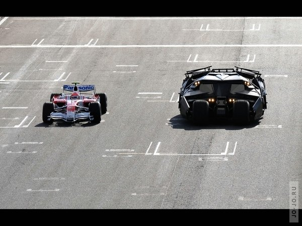 Toyota TF108 and dark knight batmobile