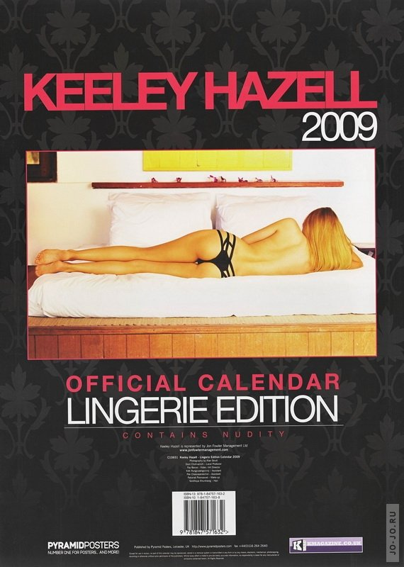 Keeley Hazell - Offical calendar 2009 (Lingerie edition)