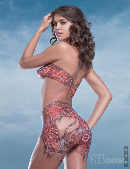 pics photos   painting irina shayk body cachedfeb