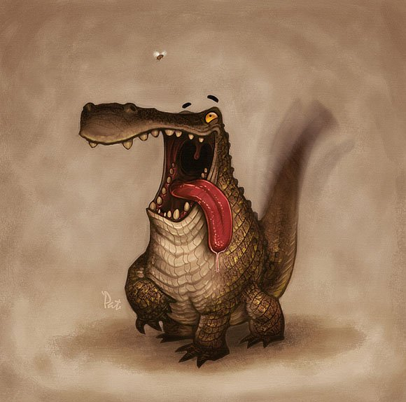 Смешное животное рисунок