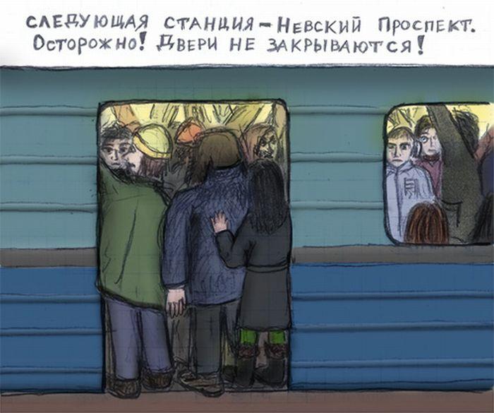 Прикольные картинки про метро