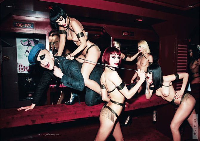 Ellen von unwerth11 Ali Mahdavi & The Girls of Crazy Horse by Ellen