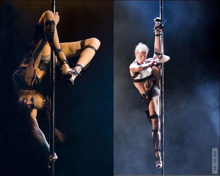 Pole dancing atau Tari Tiang identik dengan klub striptease atau tari