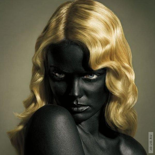 фото негра блондинки