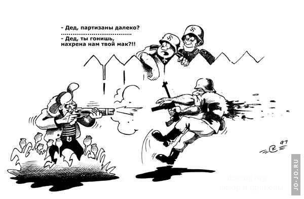 Смешные картинки про партизан