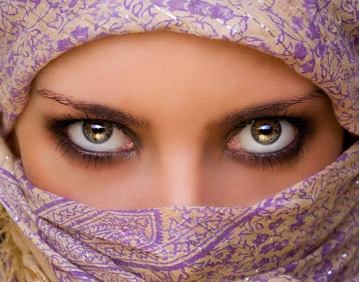 Открытка женские глаза, надписями самые