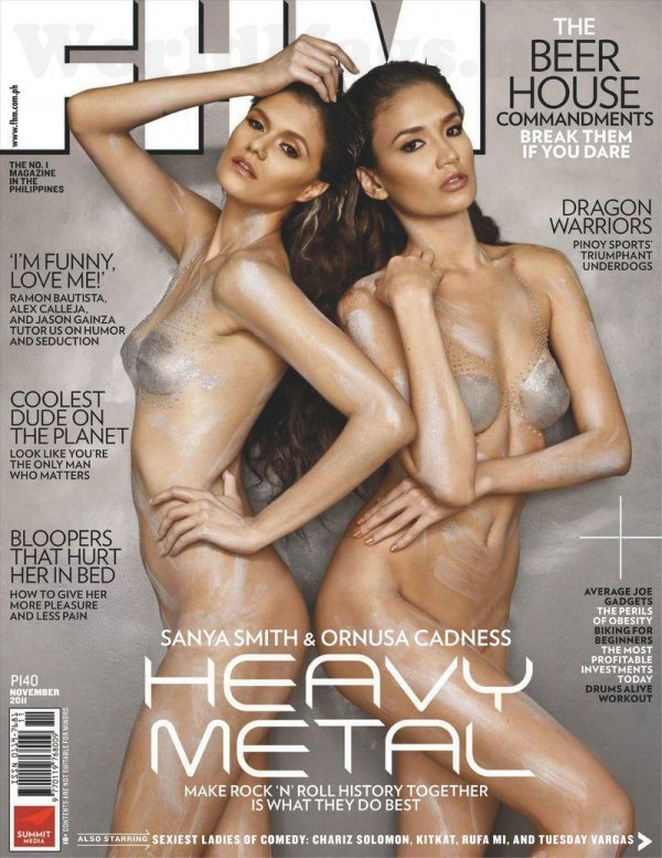 Sanya Smith, Ornusa Cadness - FHM November 2011 Philippines