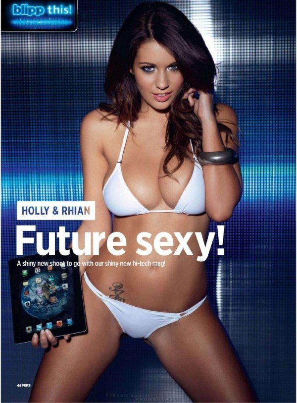 Holly Peers, Rhian Sugden - Nuts January 2012 UK