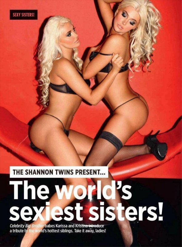 Kristina Shannon, Karissa Shannon - Nuts February 2012 UK