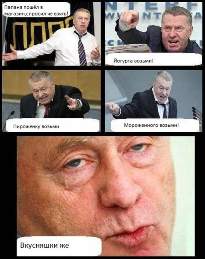 Смешные картинки с надписями про жириновского