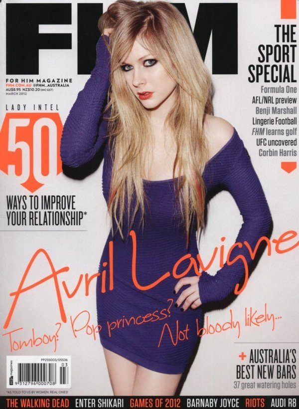 Avril Lavigne - FHM March 2012 Australia