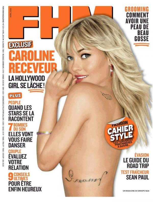 Caroline Receveur - FHM April 2012 France