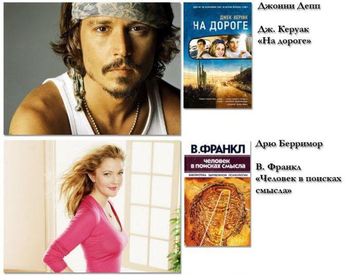 Какие книги предпочитают читать всемирно известные звезды (20 фото) .
