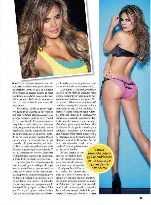 Vaneza Pelaez - TV Y Novelas August 2012 Colombia
