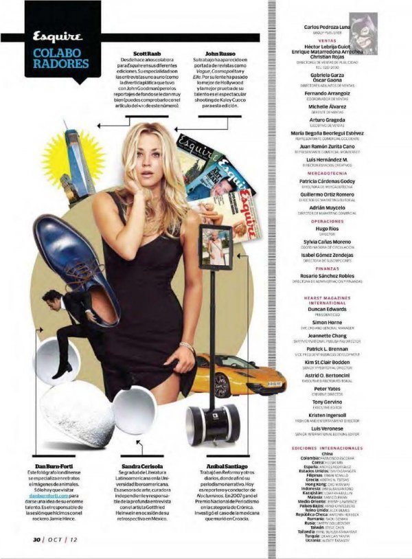 Kaley Cuoco - Esquire October 2012 Mexico