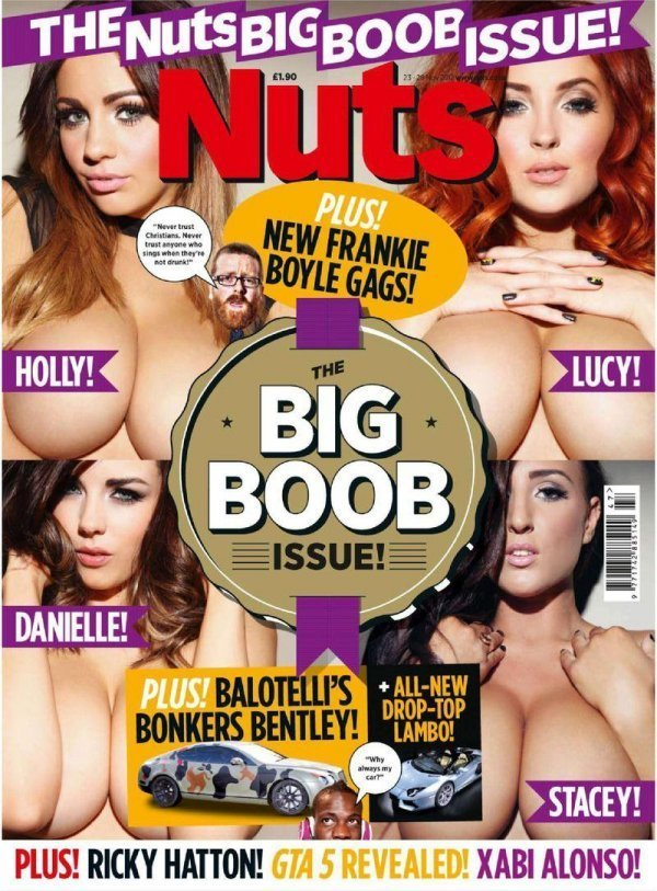 Holly Peers, Danielle Sharp, Lucy Collett - Nuts November 2012 UK