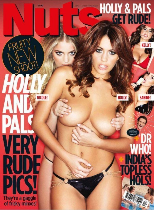 Holly Peers, Nicole Neal, Kelly Hall - Nuts March 2013 UK
