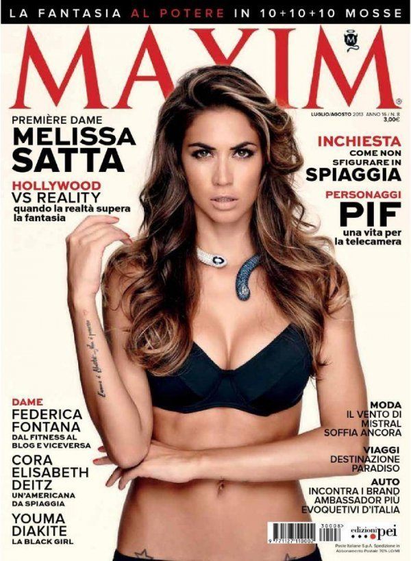 Melissa Satta - Maxim July-August 2013 Italy