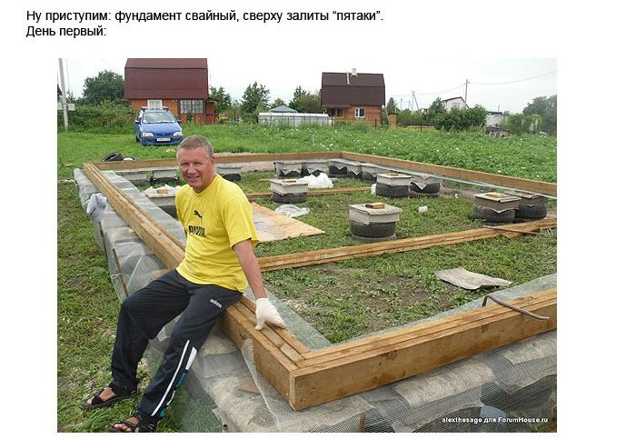 Как построить дом на даче своими руками поэтапно фото