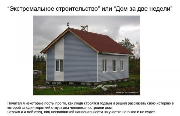 Как построить дачный домик за 2 недели