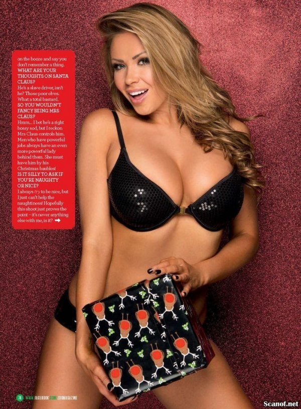 Leah Franics - ZOO 20 December 2013 UK Christmas Issue