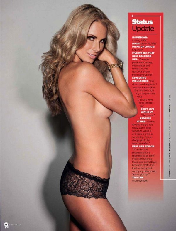 Candice Falzon - Maxim January 2014 Australia