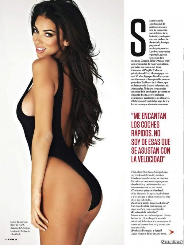 Georgia Salpa - FHM Issue 117 February 2014 Spain