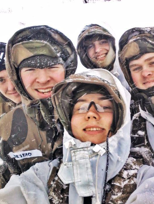 Селфи военных на учениях в норвегии