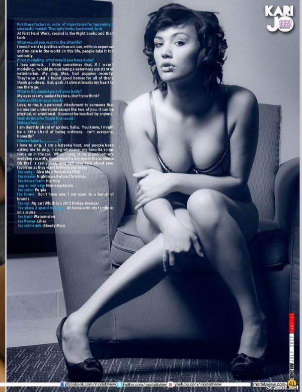 Kari Jo - Modelz View Issue July 2013 USA