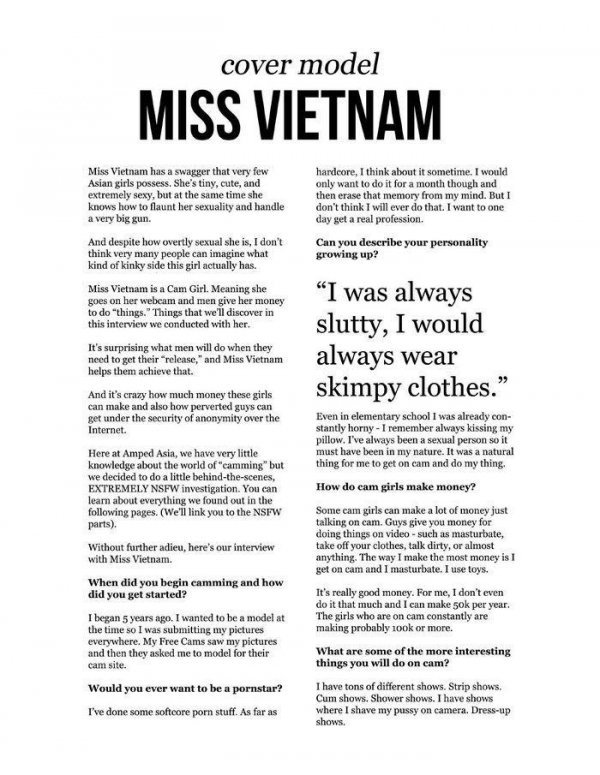 Miss Vietnam - Amped Asia March 2014 USA