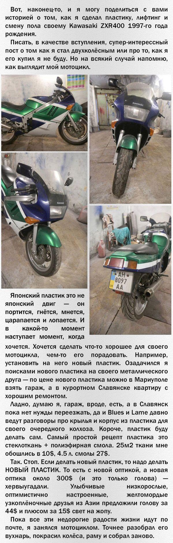 Как сделать самому пластик на мотоцикл