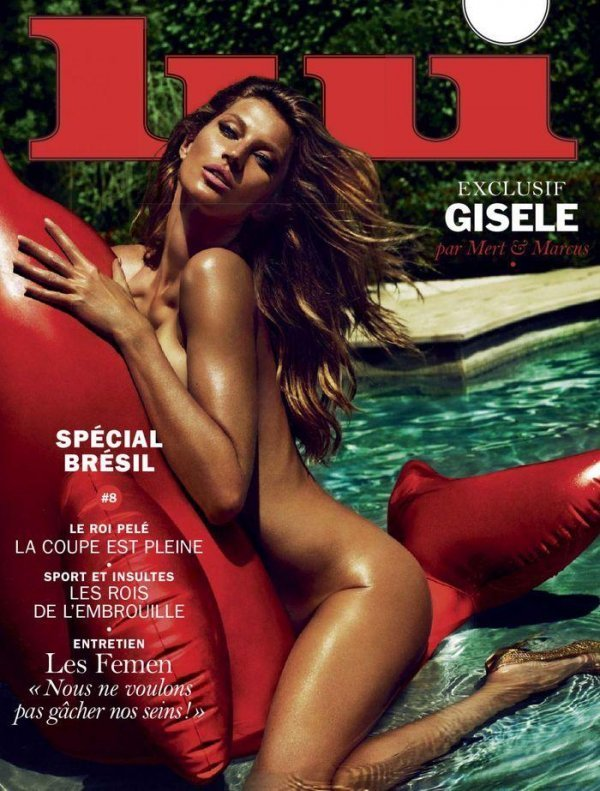 Gisele Bundchen - Lui Issue 08 June 2014 France
