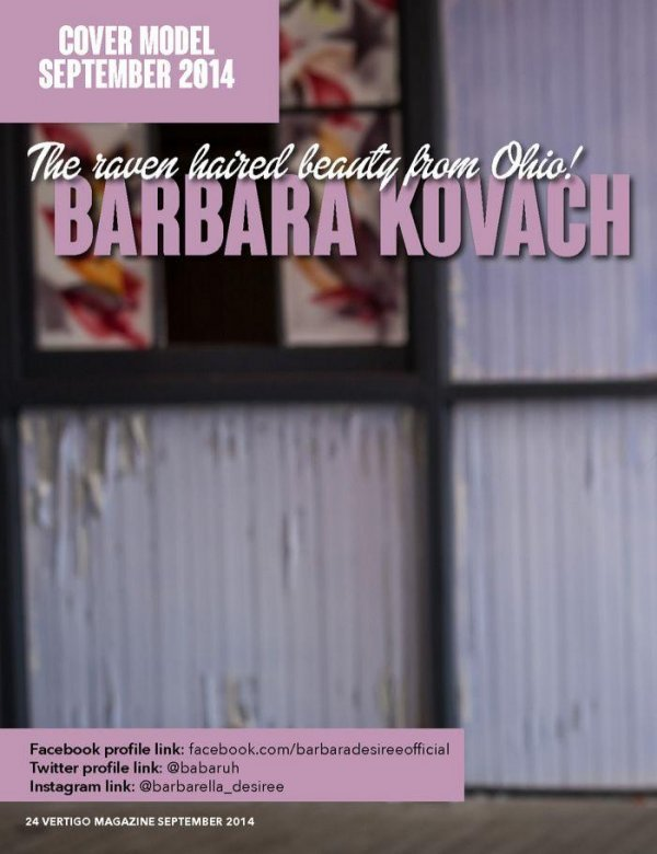 Barbara Kovach - Vertigo Magazine Issue 03 September 2014 USA