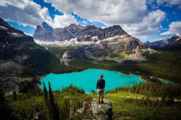 Картинки человека на фоне природы