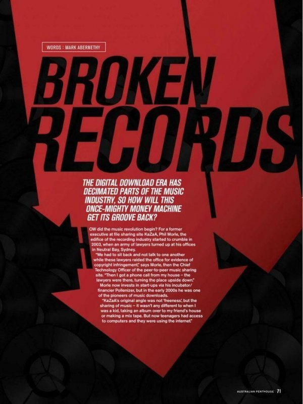 Broken Records - Penthouse November 2014 Australia Black Label