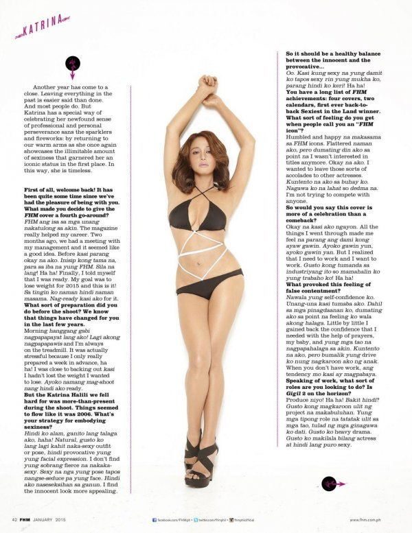 Katrina Halili - FHM January 2015 Philippines