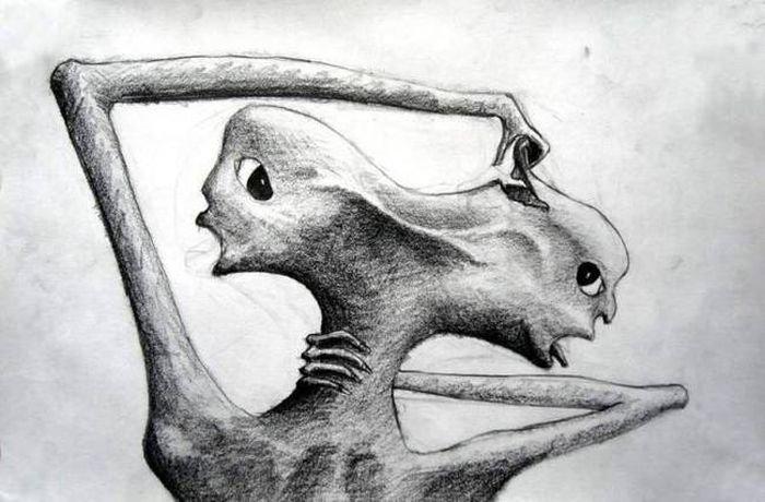 Рисунки сумасшедших людей карандашом легкие