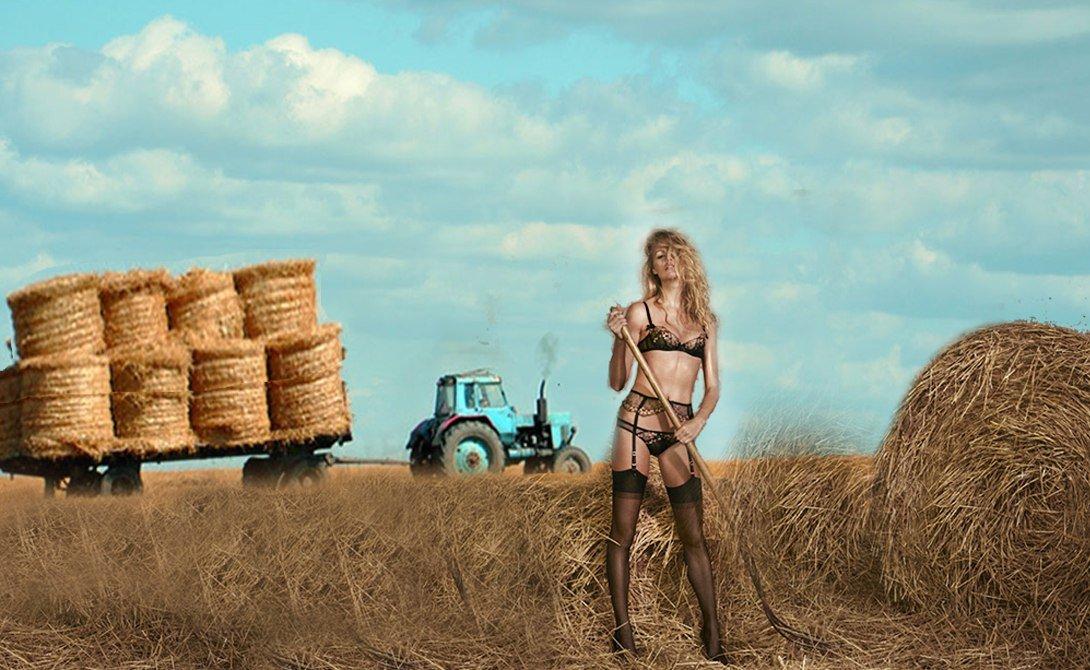 Трактор тащит сани с силой F = 80 кН