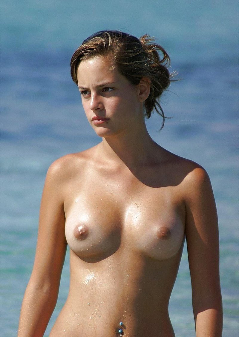 Cute girls on the beach topless, fucked milf