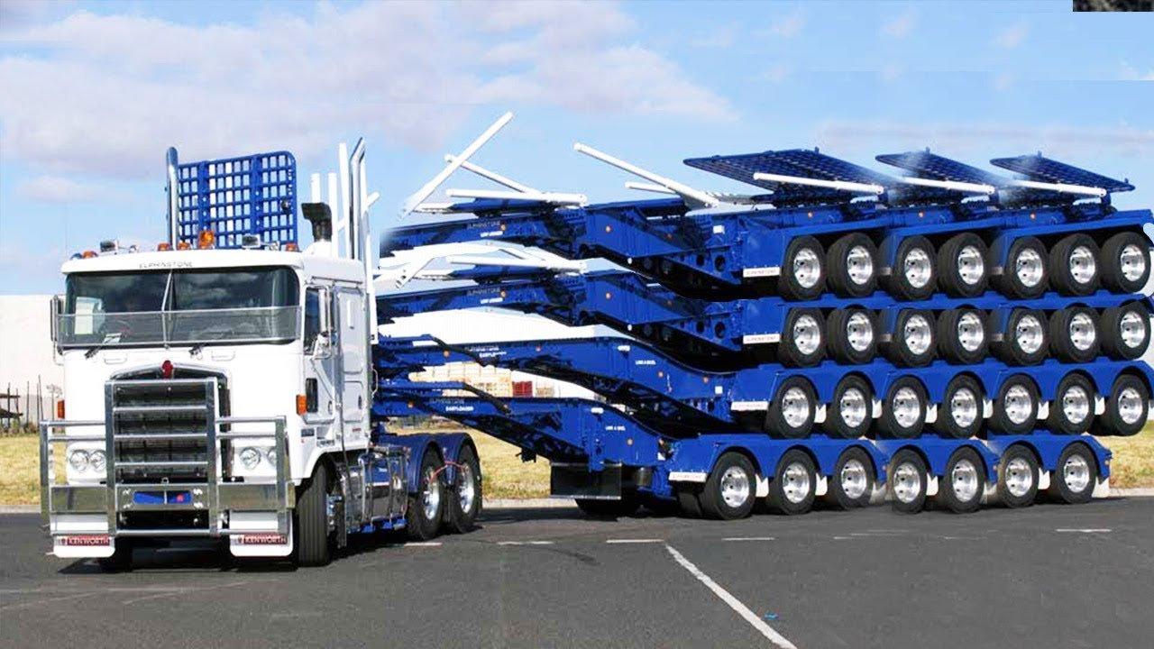 Современные необычные складные фуры и грузовики-трансформеры