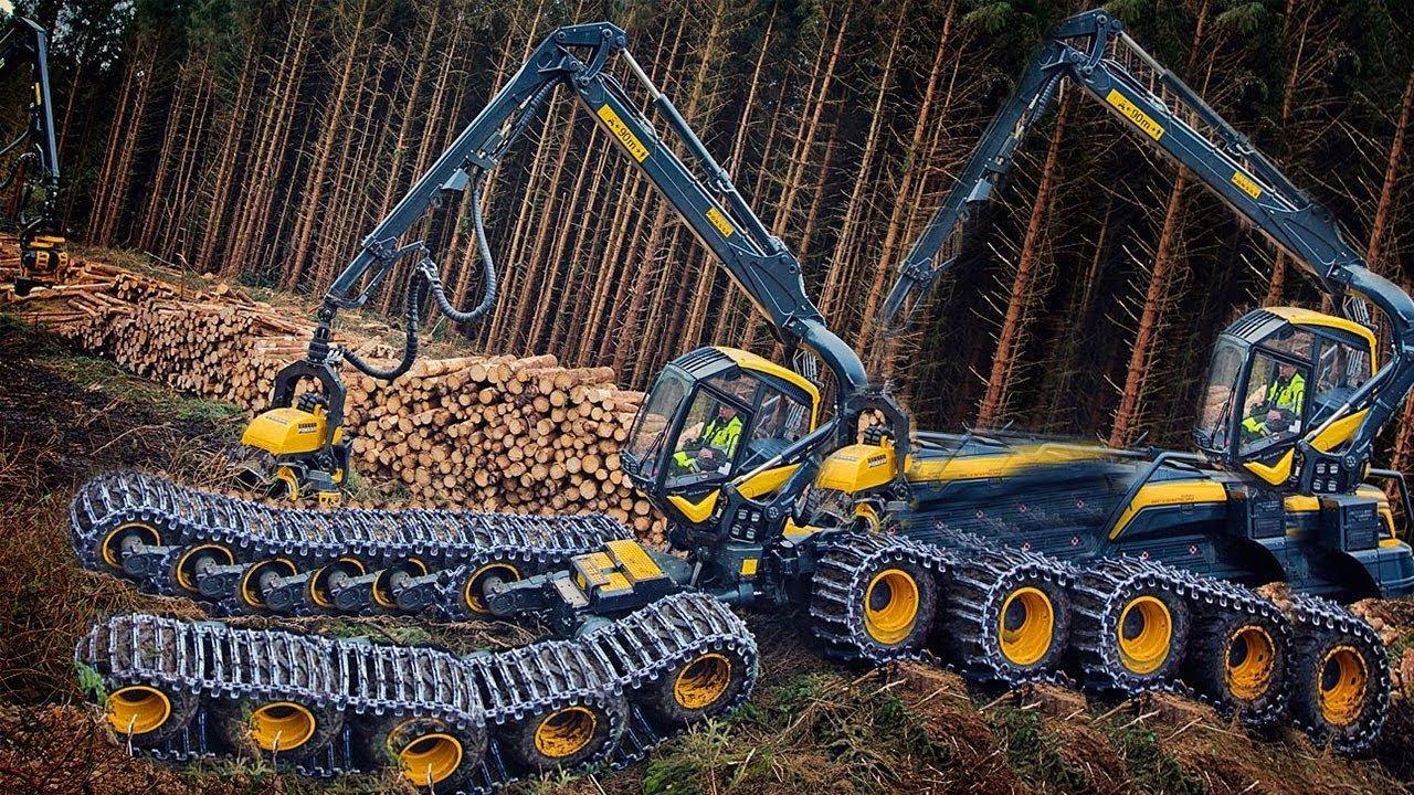 Мега Машины: лесные тракторы и лесопилка
