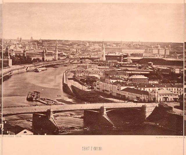 Вид на Москву 1867 года с храма Христа Спасителя (15 фото)