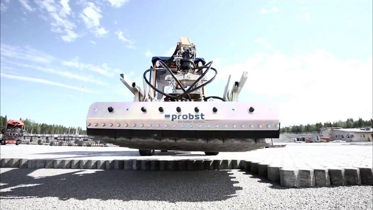 Автоматическая укладка тротуарной плитки и кирпичей роботами