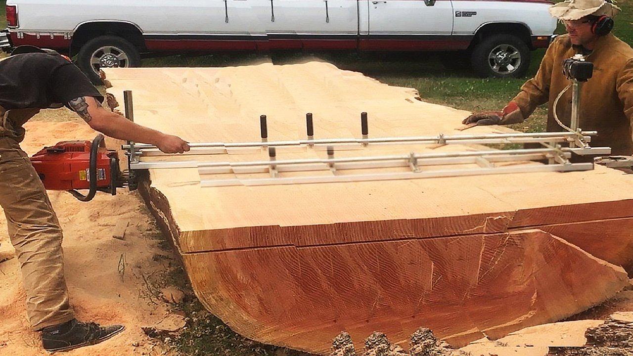 Современная лесопилка - распил мега брёвен