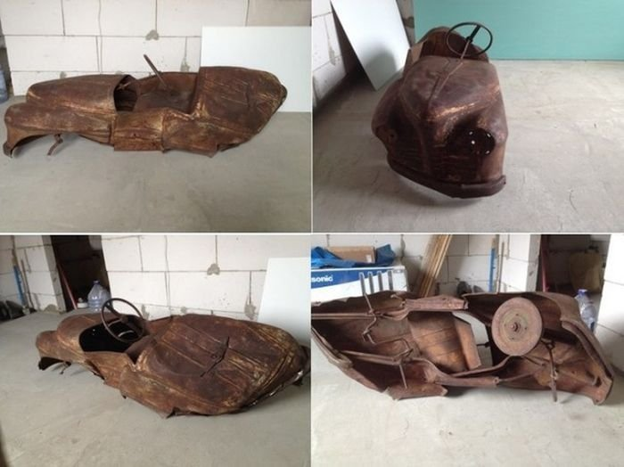 Реставрация педального детского автомобиля «Урал» (18 фото)
