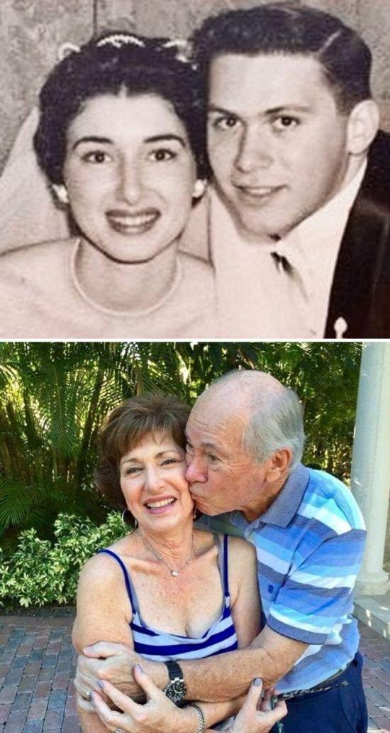Пары, которые сумели сохранить свою любовь на всю жизнь (25 фото)