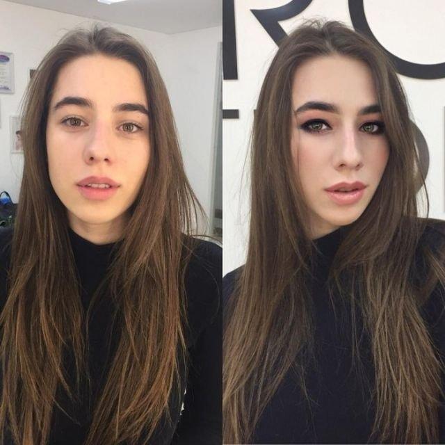 Участницы конкурса красоты «Мисс Караганда-2017» до и после нанесения макияжа (20 фото)