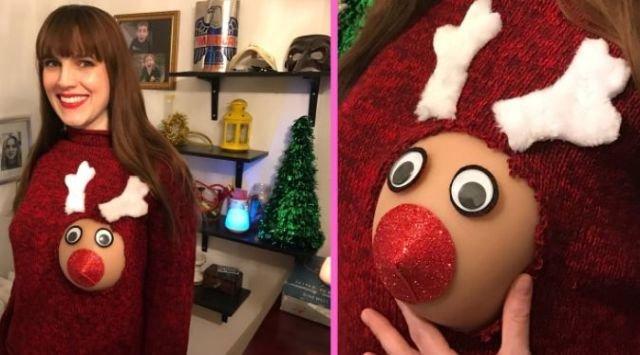 Эротическая рождественская забава американок (13 фото)