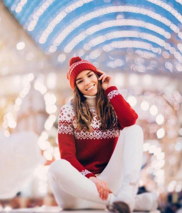 Рождественские фото девушек (26 фото)